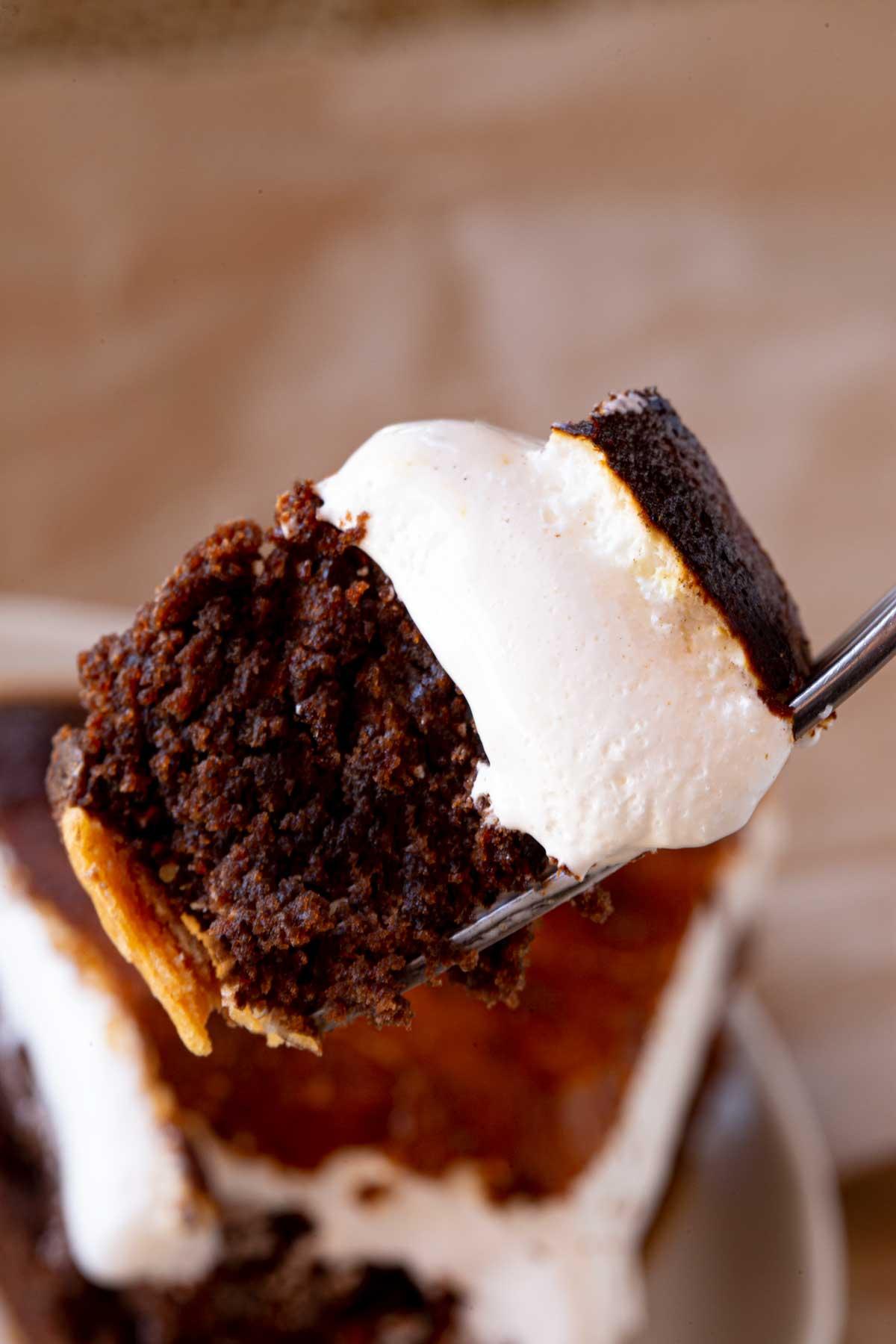 fork full of S'mores Pie