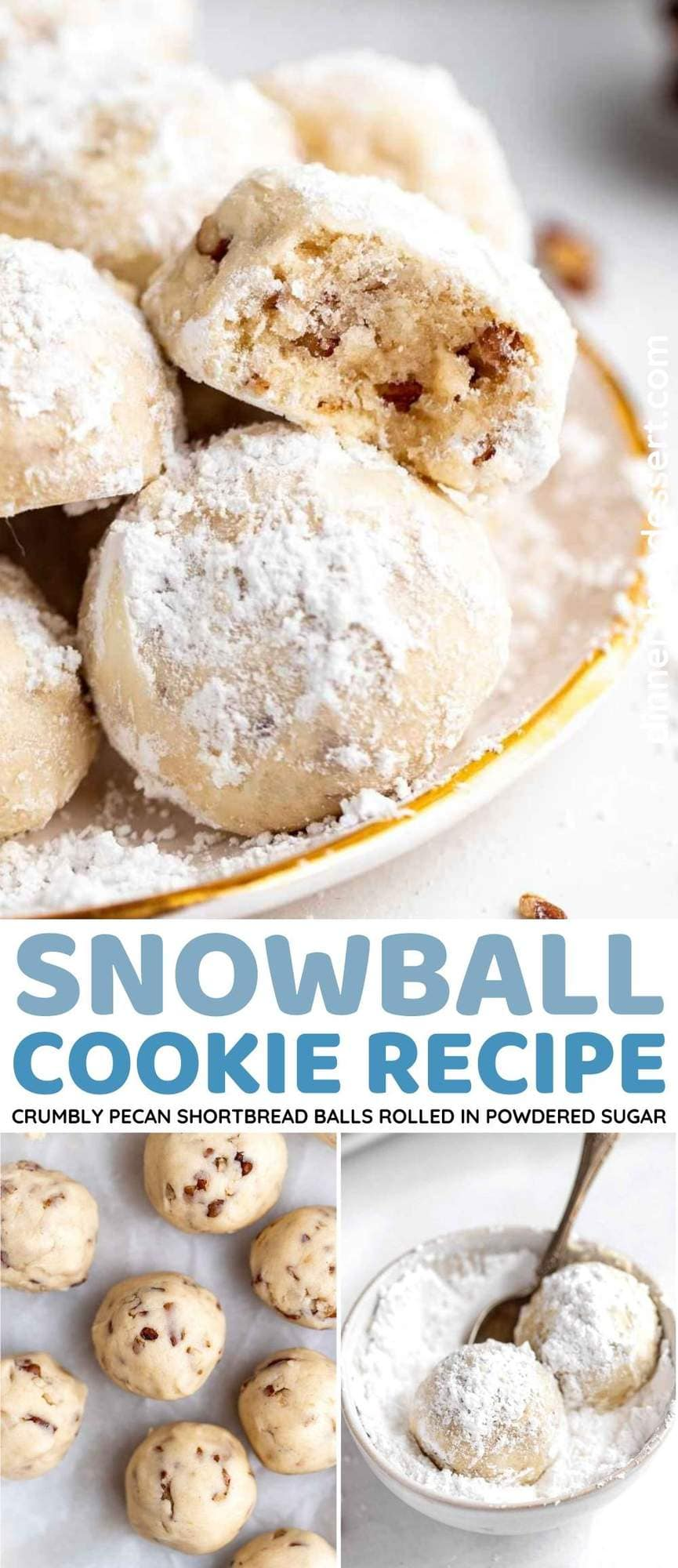 Snowball Cookies Collage