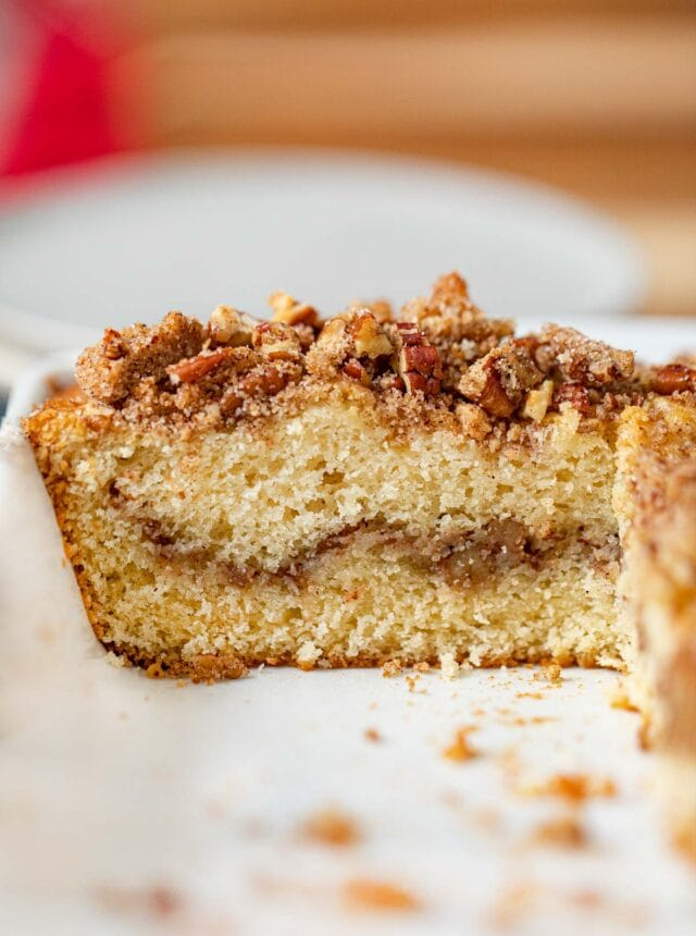 cross section of Sour Cream Coffee Cake