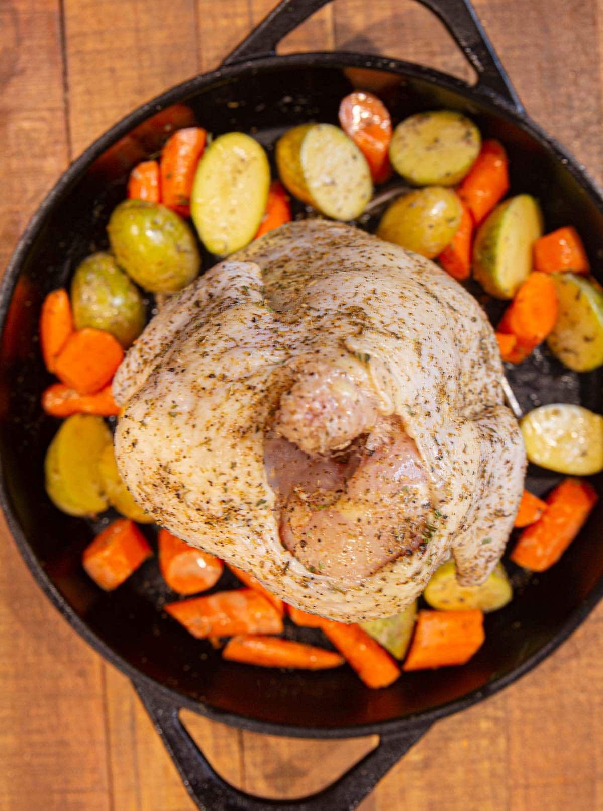 Beer Can Chicken before cooking