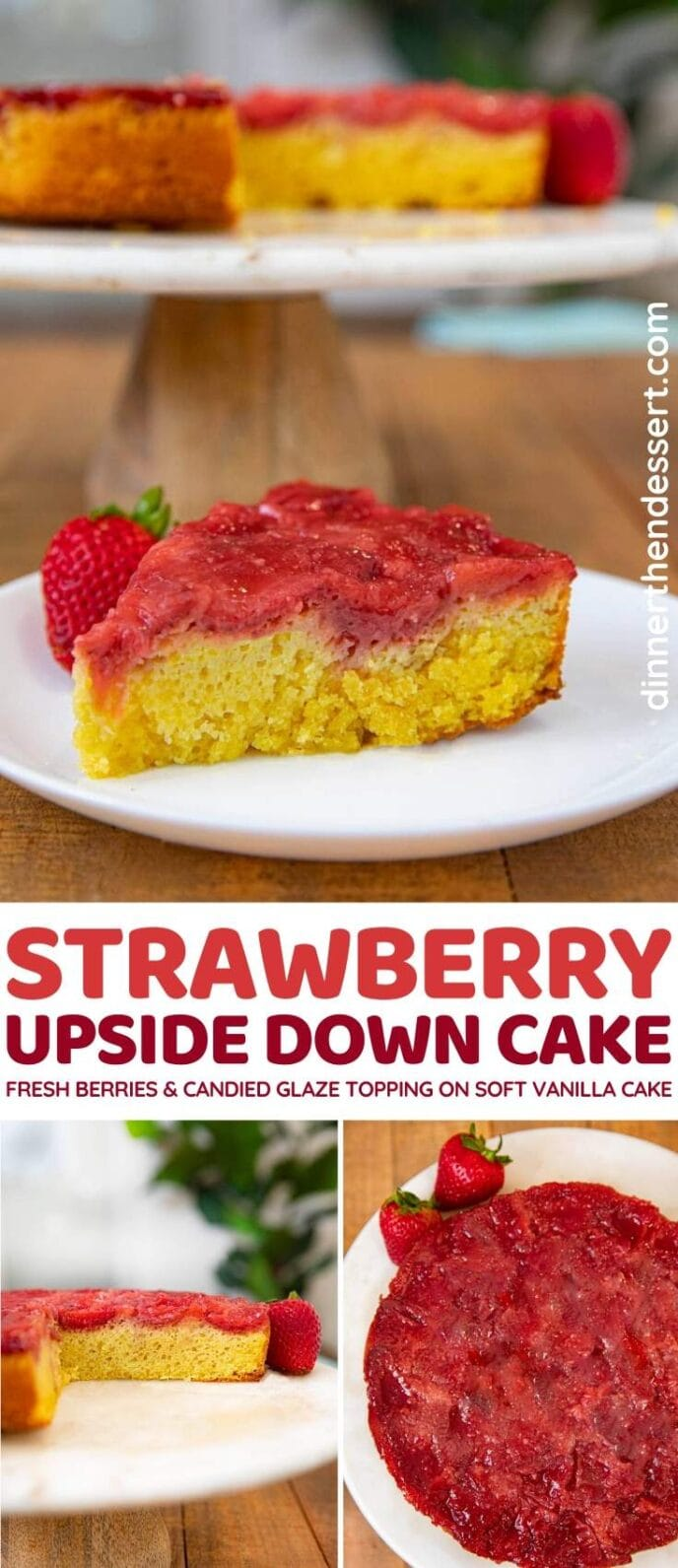 Strawberry Upside Down Cake collage