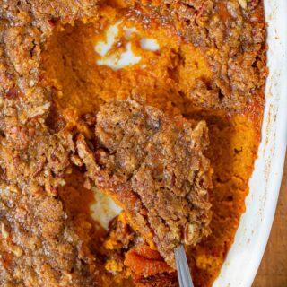 Sweet Potato Souffl? with spoon