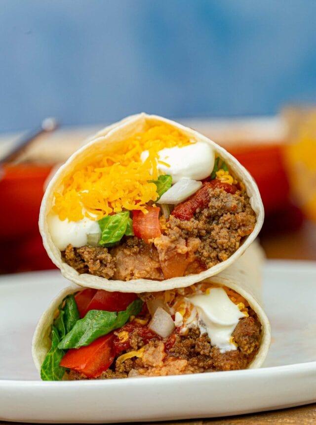 Taco Bell Burrito Supreme on plate