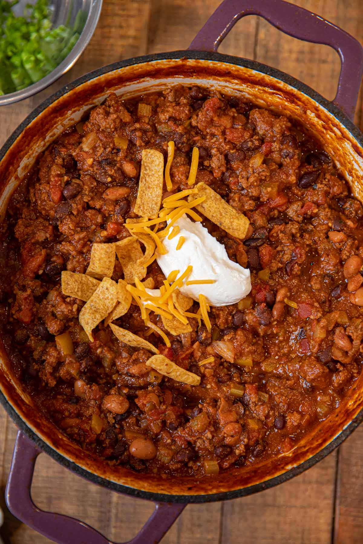 Taco Chili in purple pot