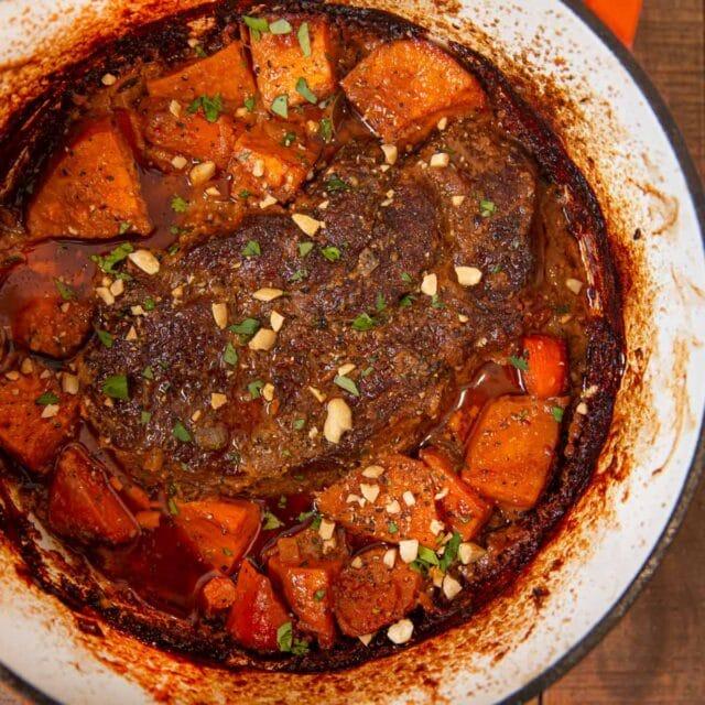 West African Pot Roast in pot