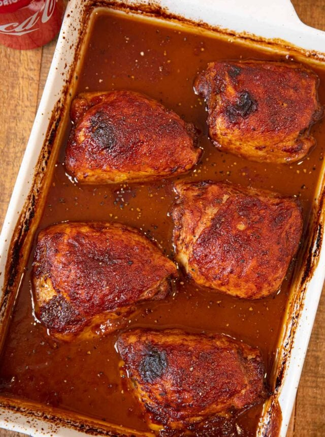 Baking dish with Coca Cola Chicken