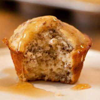 up close Sausage Pancake Muffin