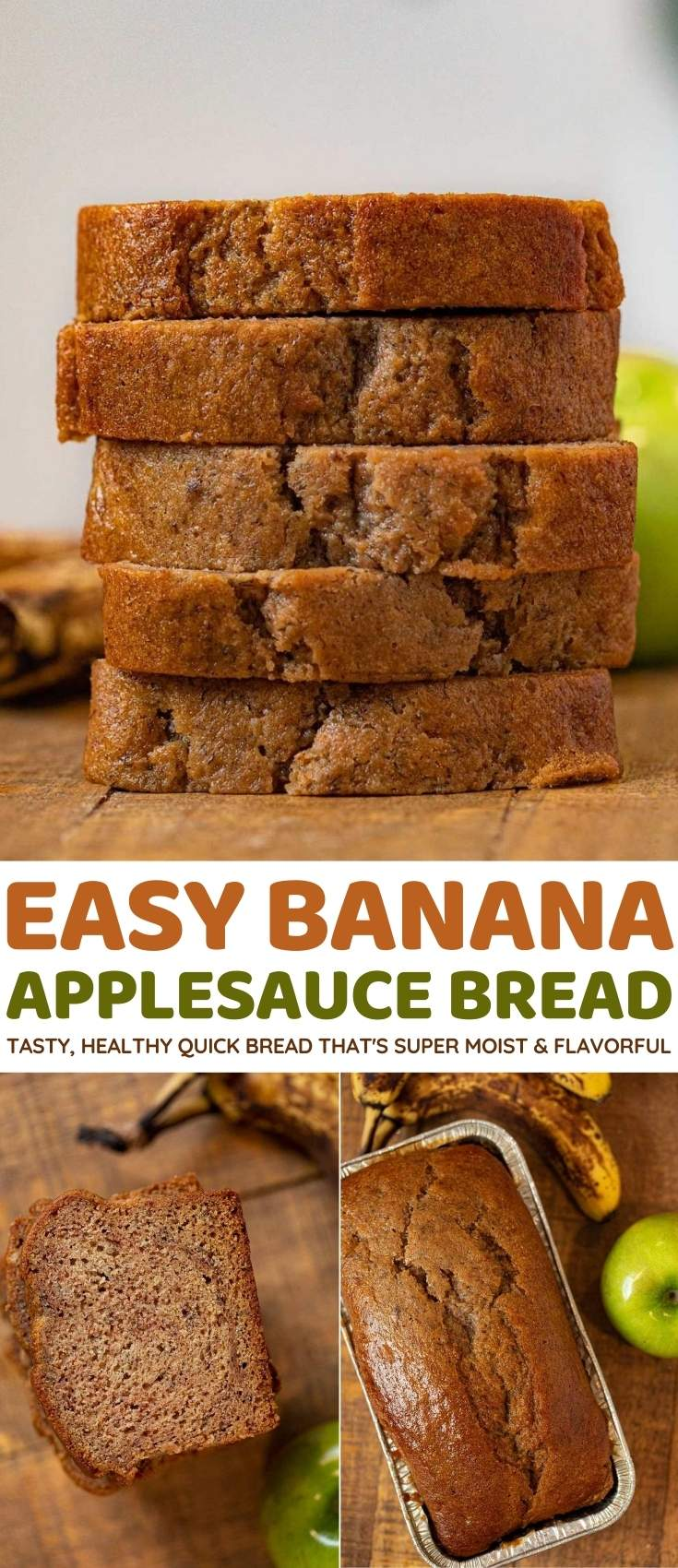 Banana Applesauce Bread collage