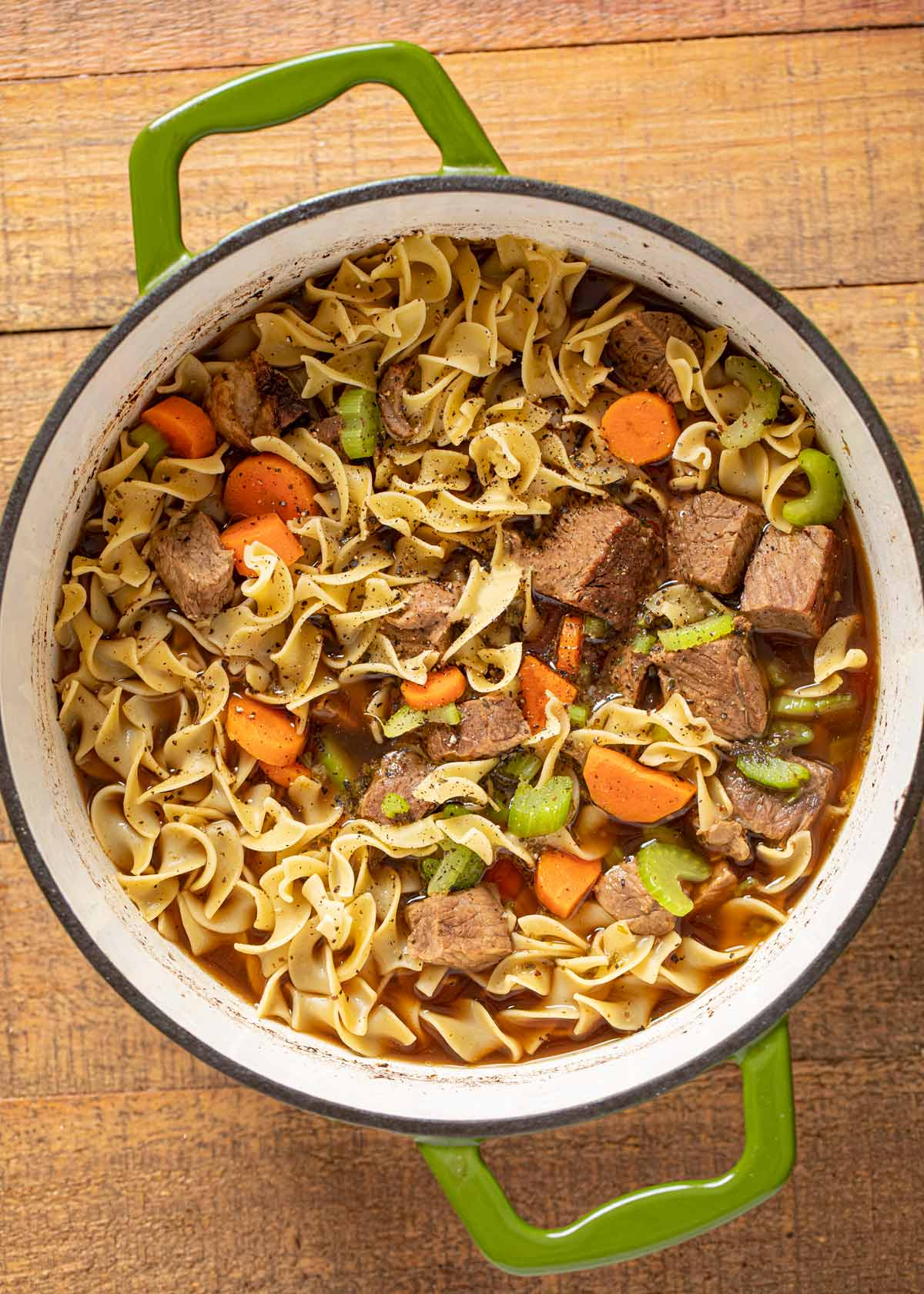 Beef Noodle Soup in pot