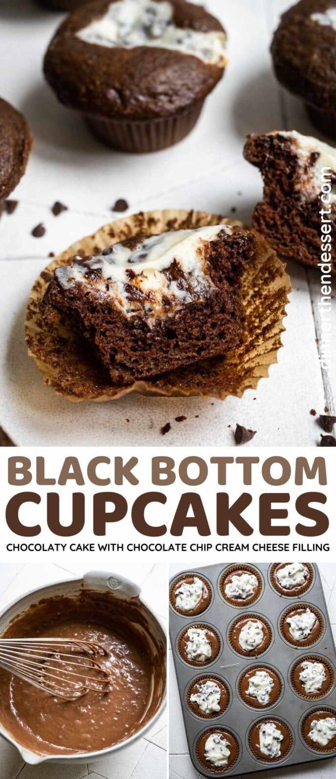 Black Bottom Cupcakes Collage