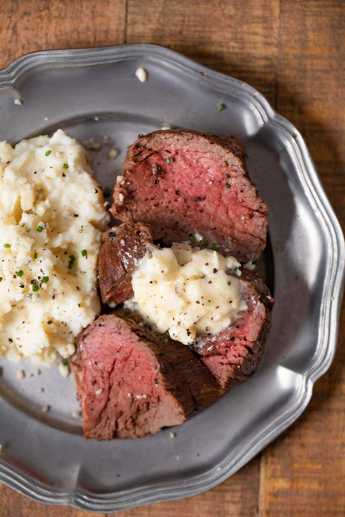 Blue Cheese Butter on Beef Tenderloin