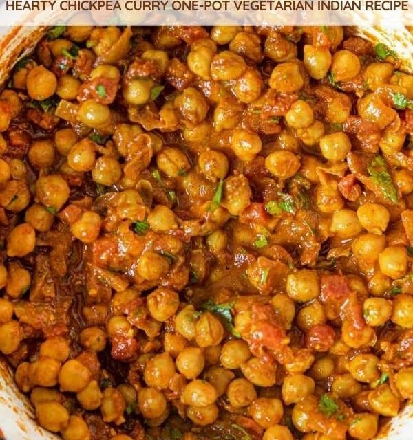 Chana Masala collage