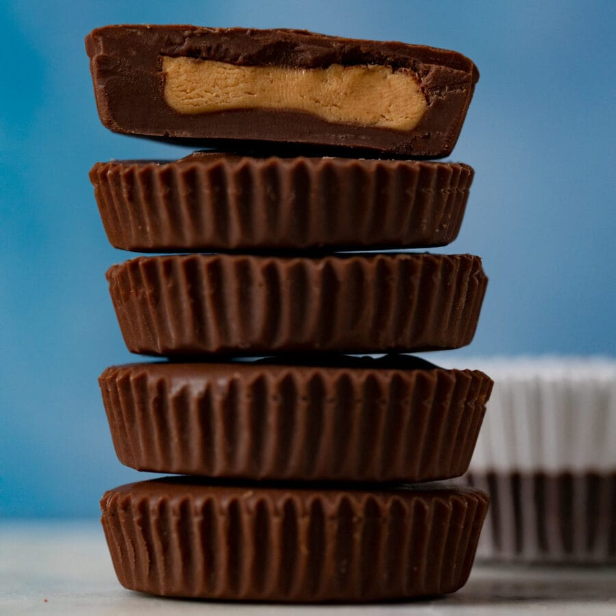 Chocolate Peanut Butter Cups in stack