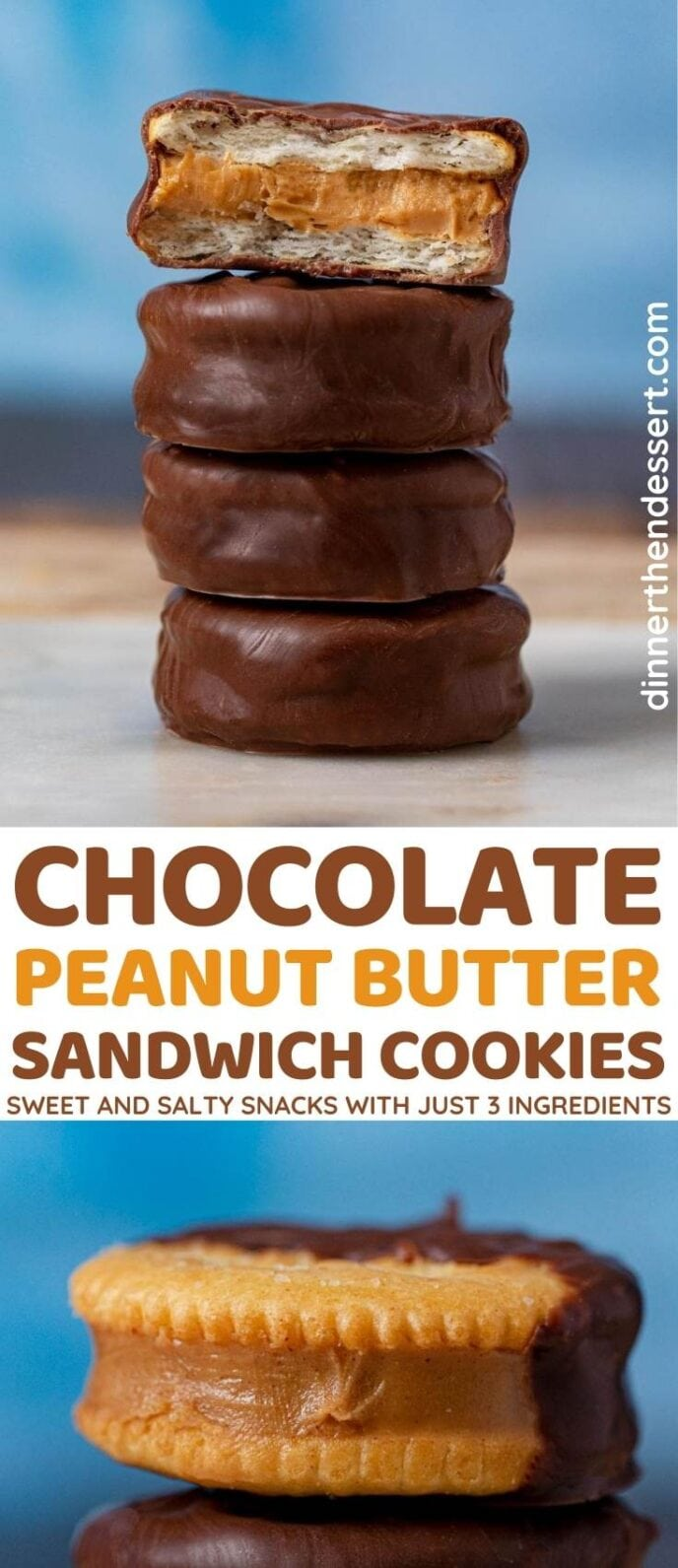 Chocolate Peanut Butter Sandwich Cookies collage