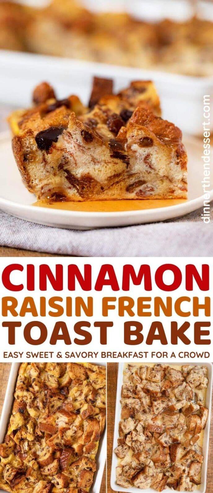 Cinnamon Raisin French Toast Bake collage