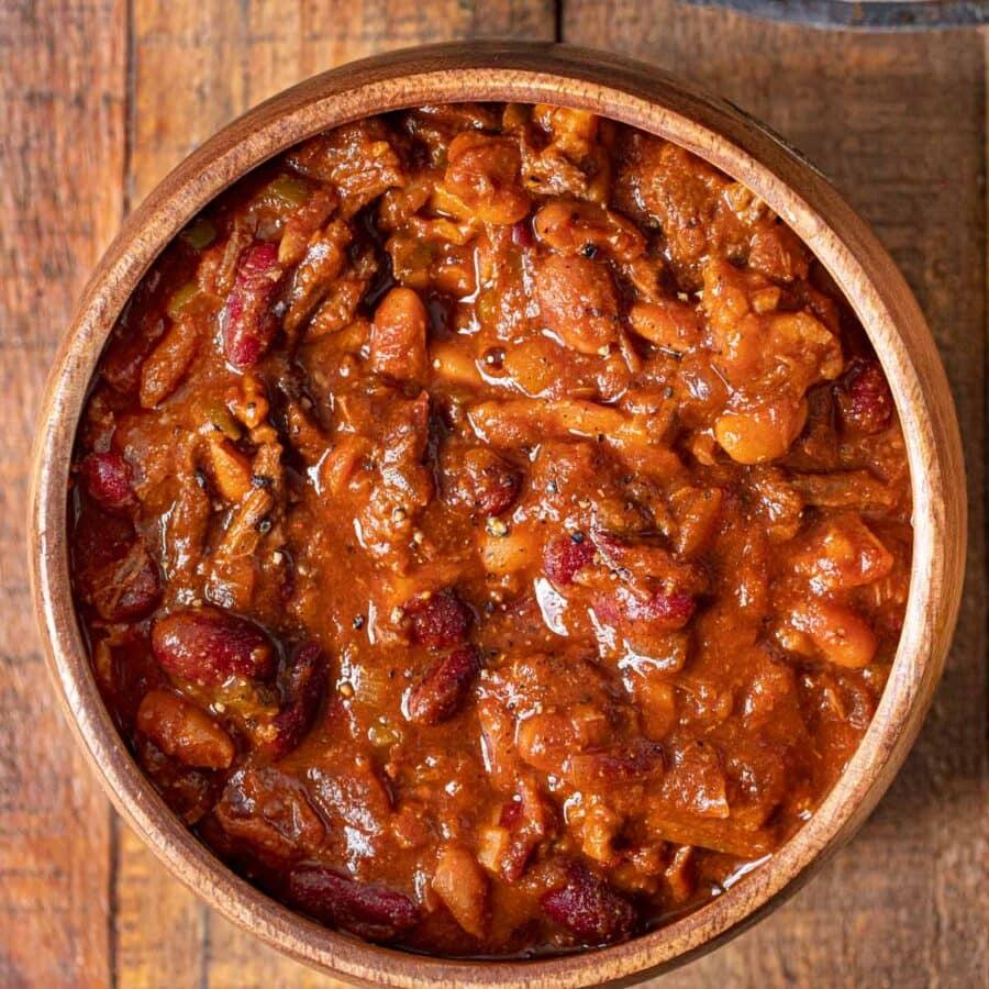 Cowboy Beans in bowl
