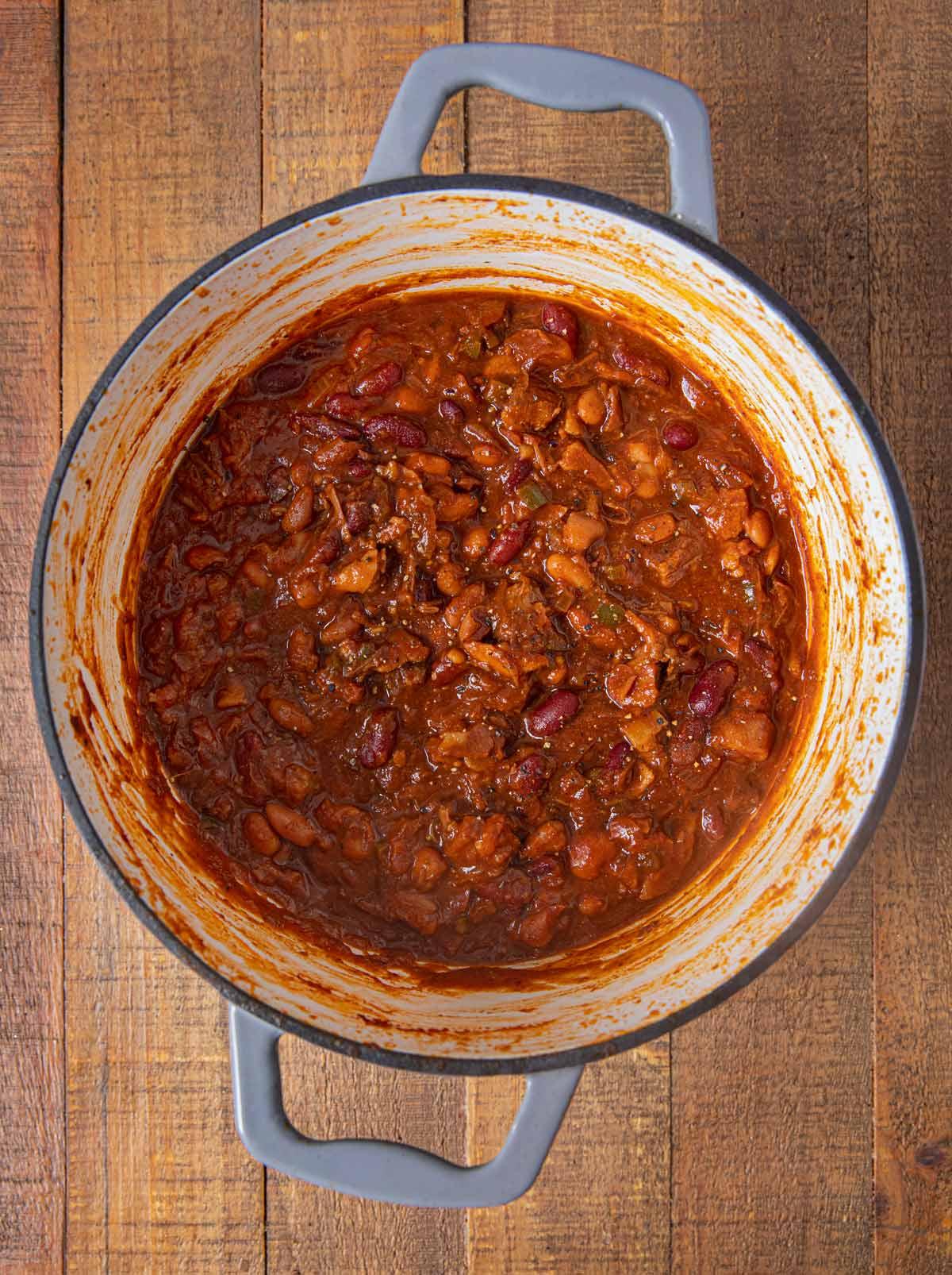 Cowboy Beans in pot