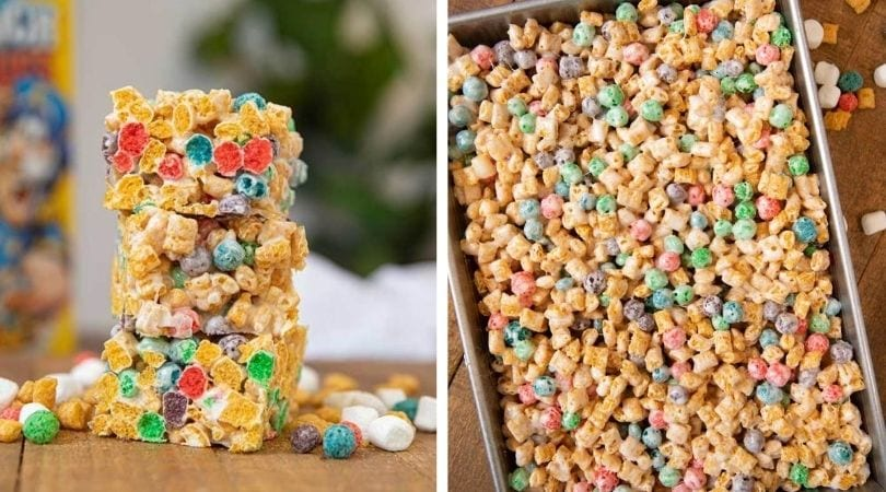 Crunchberry Cereal Bars Dinner Then Dessert If you don't want the marshmallow topping, you can skip this part. crunchberry cereal bars