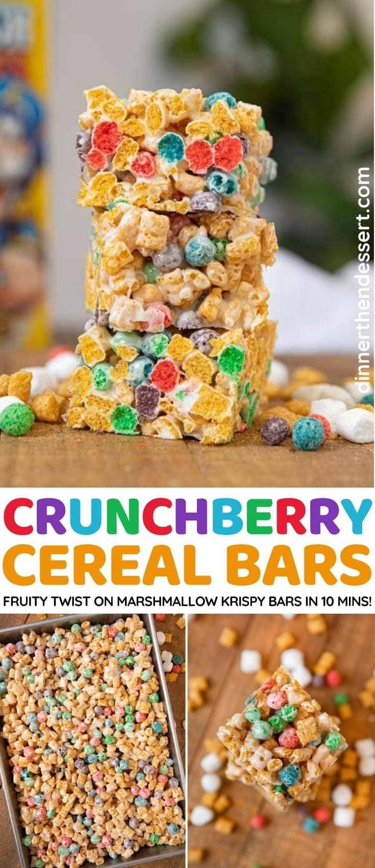 Crunchberry Cereal Bars collage