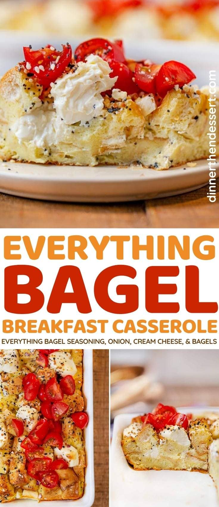 Everything Bagel Breakfast Bake collage