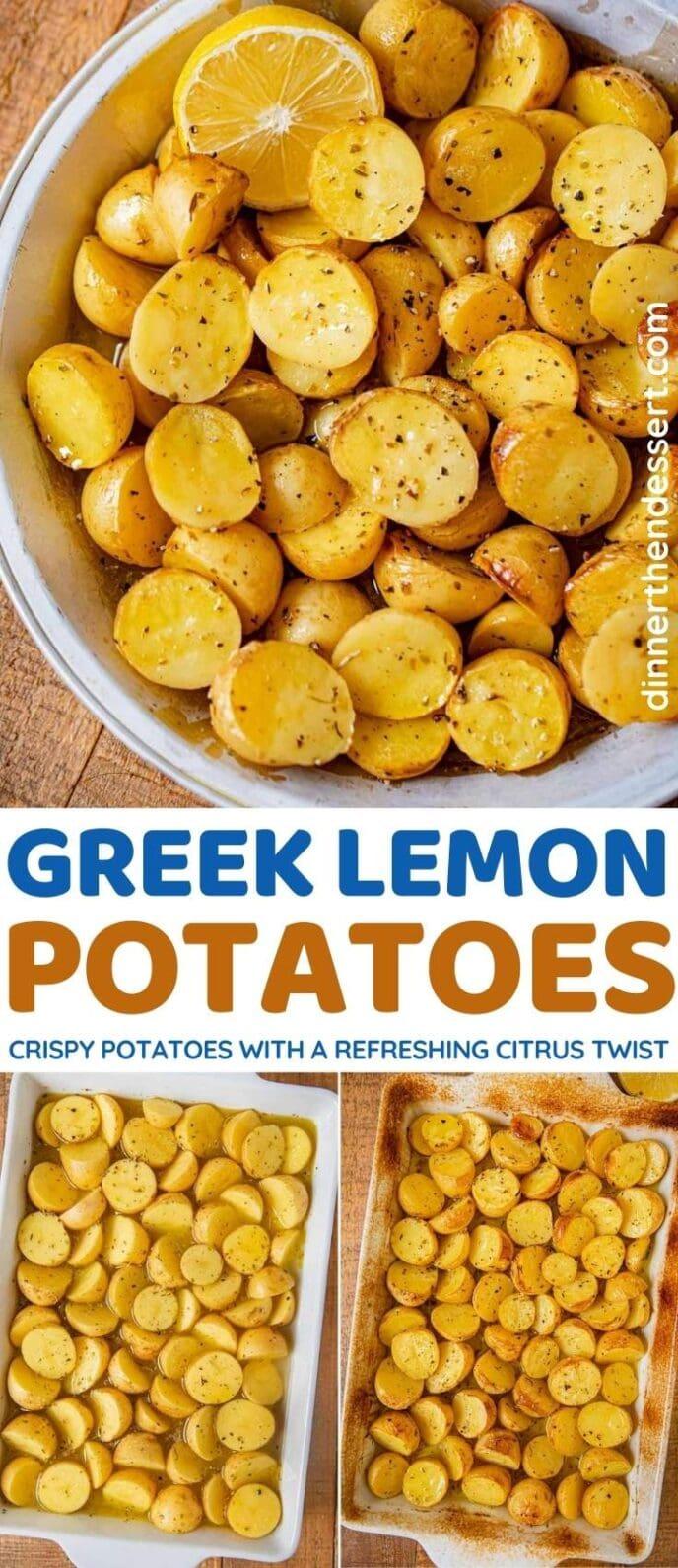 Greek Lemon Potatoes collage