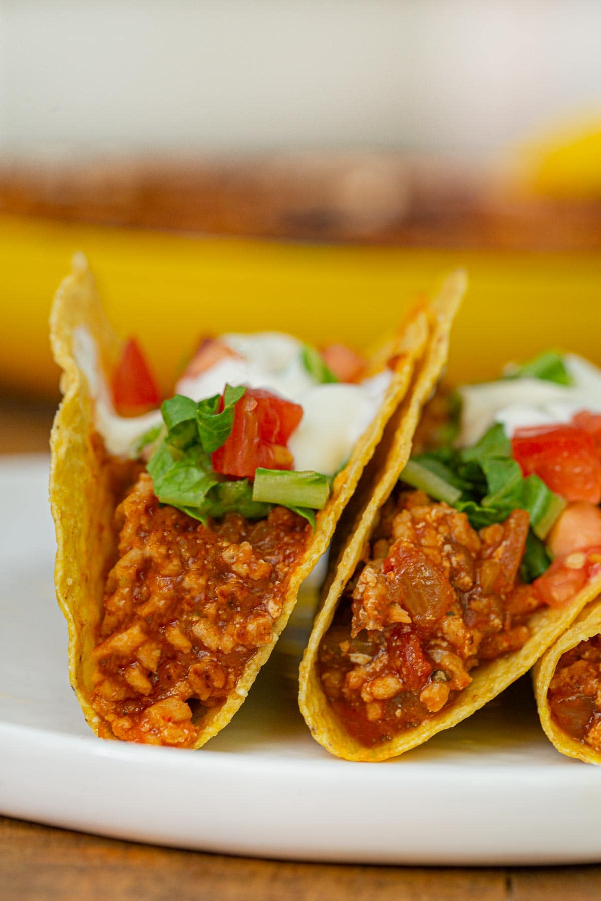 Ground Chicken Tacos on plate