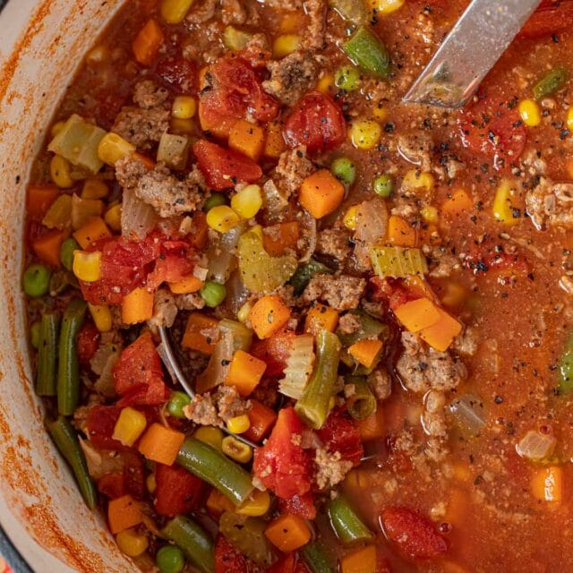 Hamburger Soup in pot