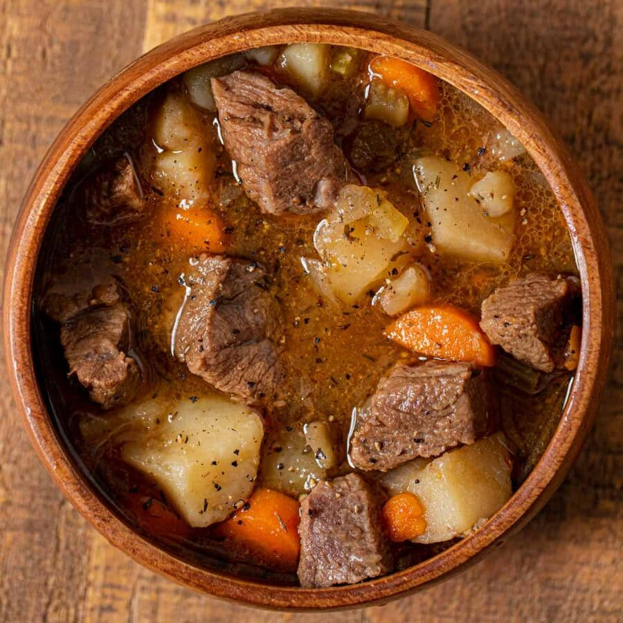 Irish Beef Stew in bowl