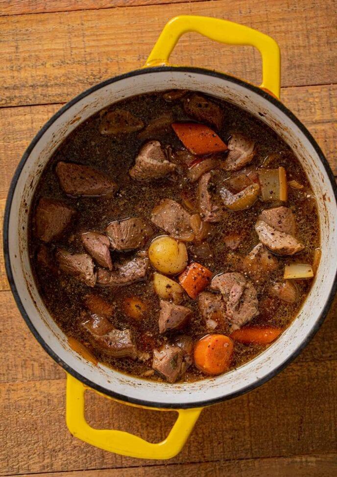 Irish Lamb Stew in pot