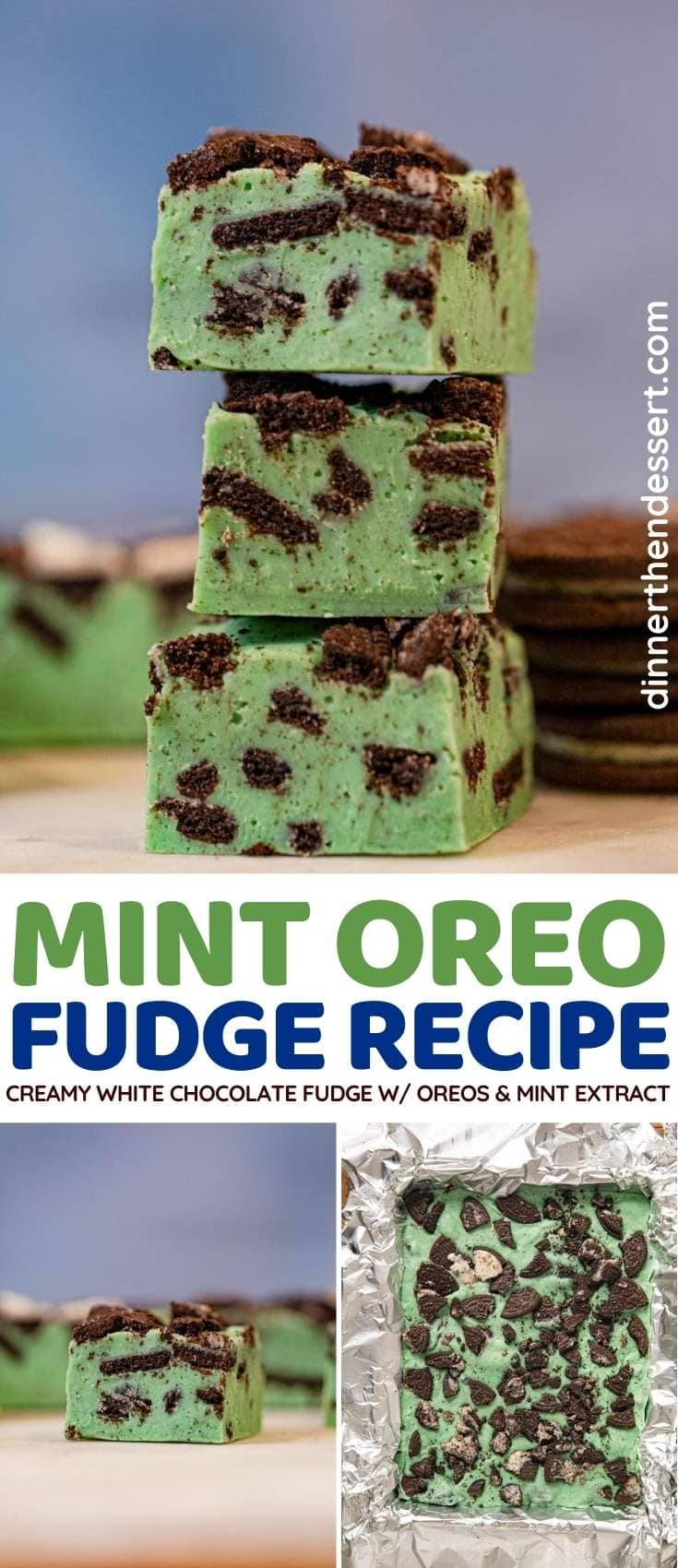 Mint Oreo Fudge collage