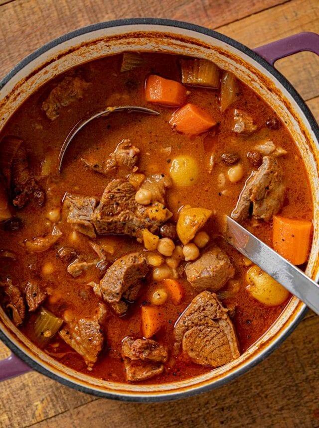 Moroccan Lamb Stew in pot