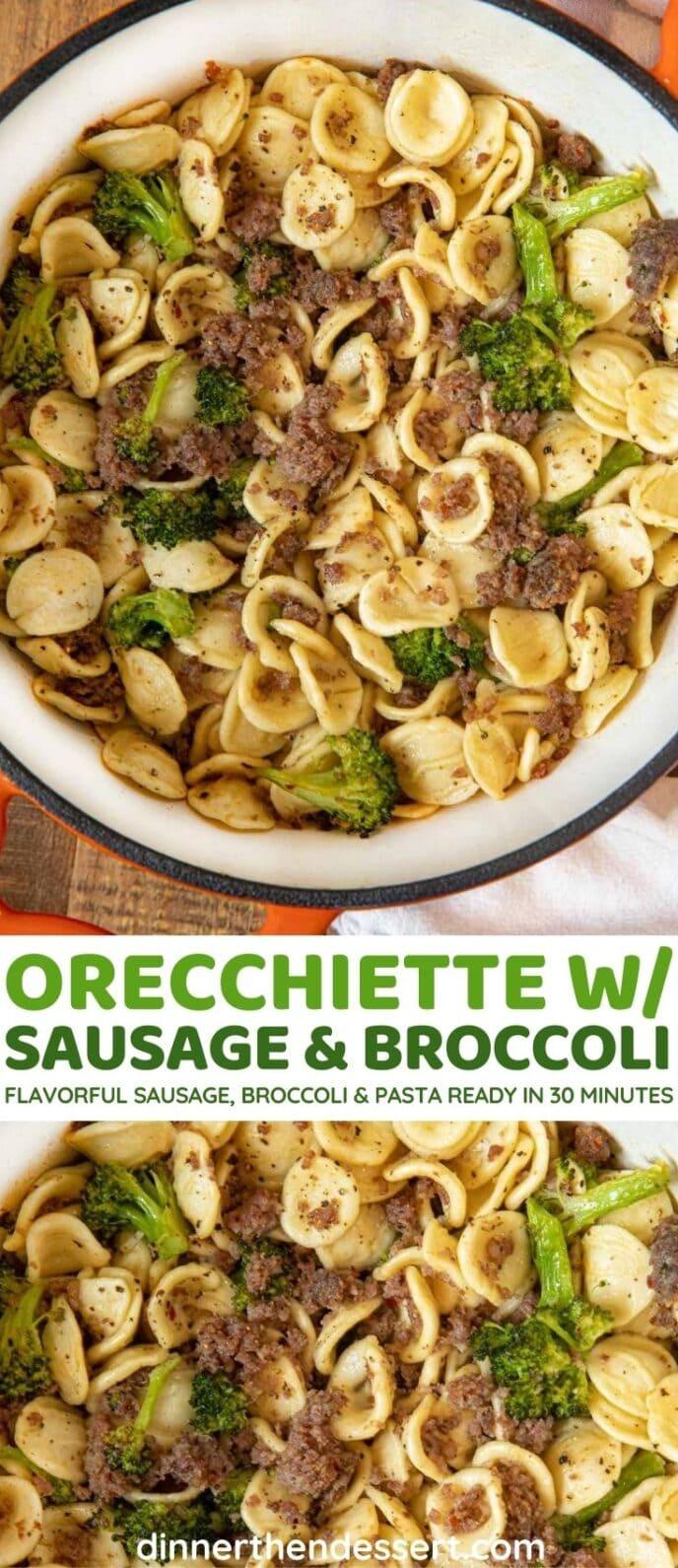 Orecchiete with Sausage and Broccoli collage