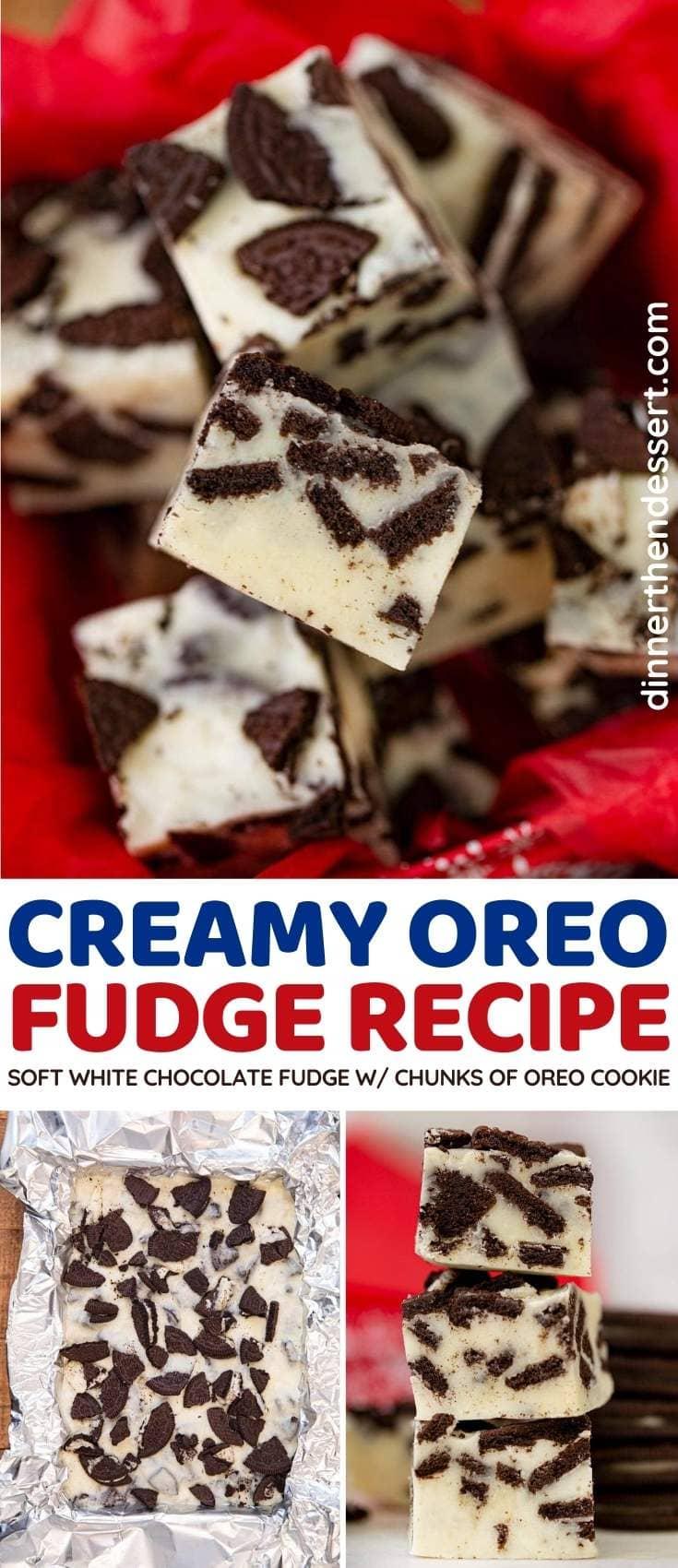 Oreo Fudge collage