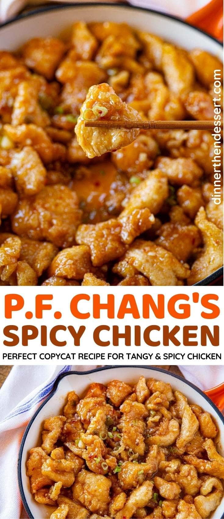 P.F. Chang's Spicy Chicken collage
