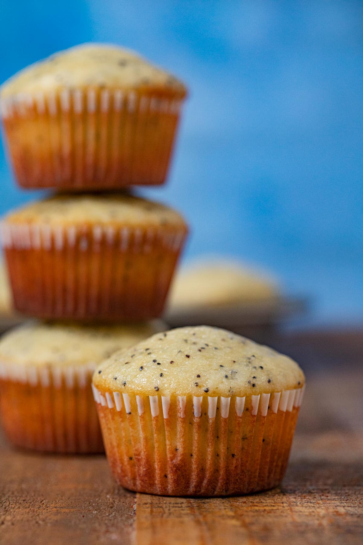 Poppy Seed Muffin on cutting board