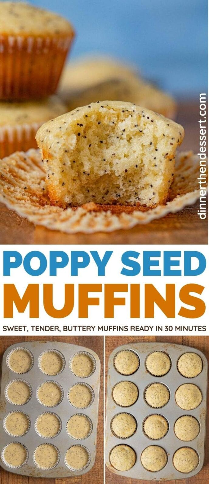 Poppy Seed Muffins collage