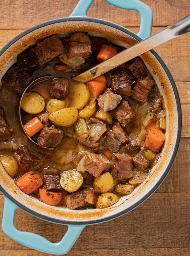 Pot Roast Soup in pot