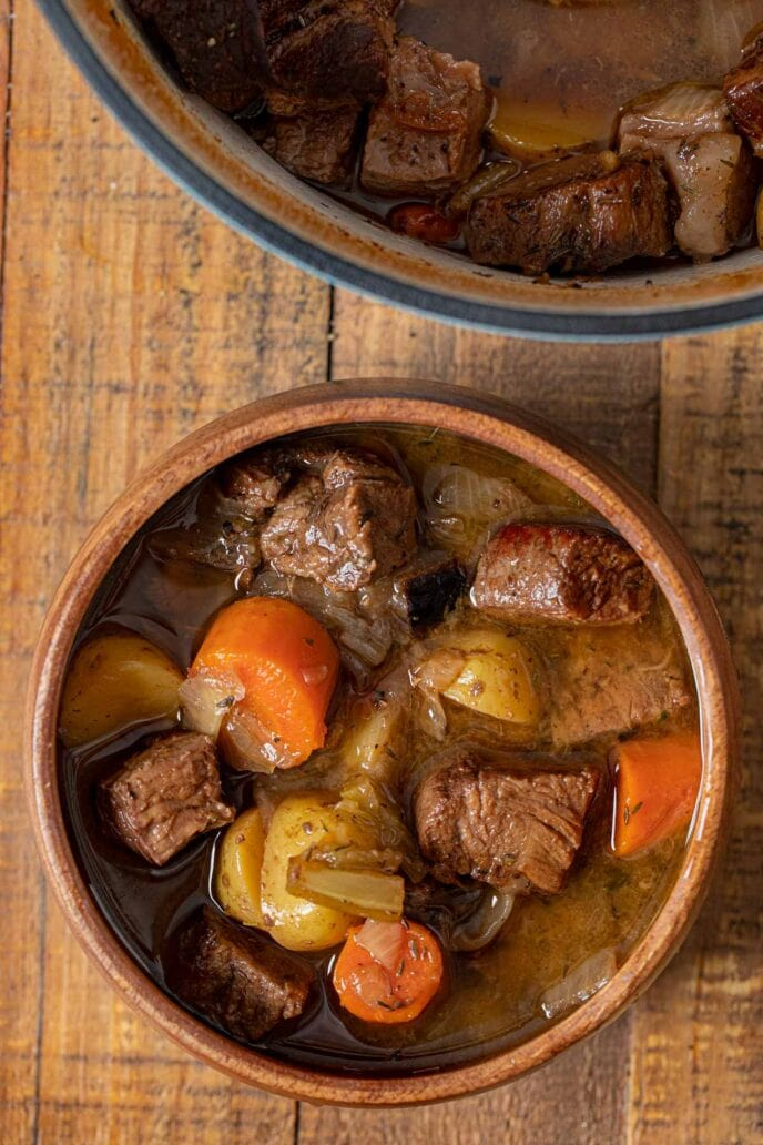 Pot Roast Soup in bowl