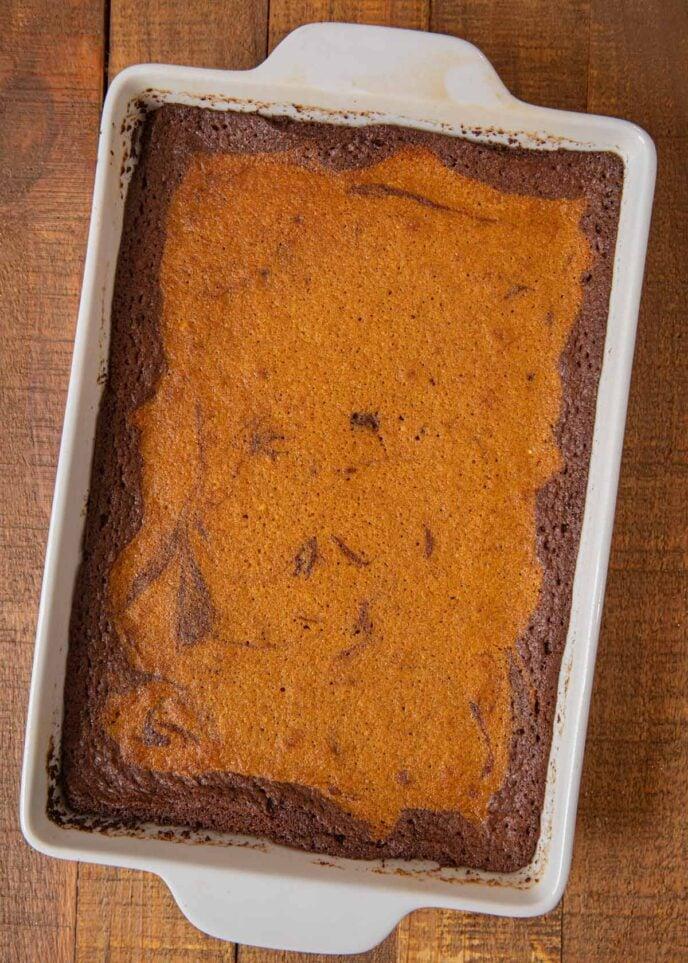 Pumpkin Brownies in baking dish