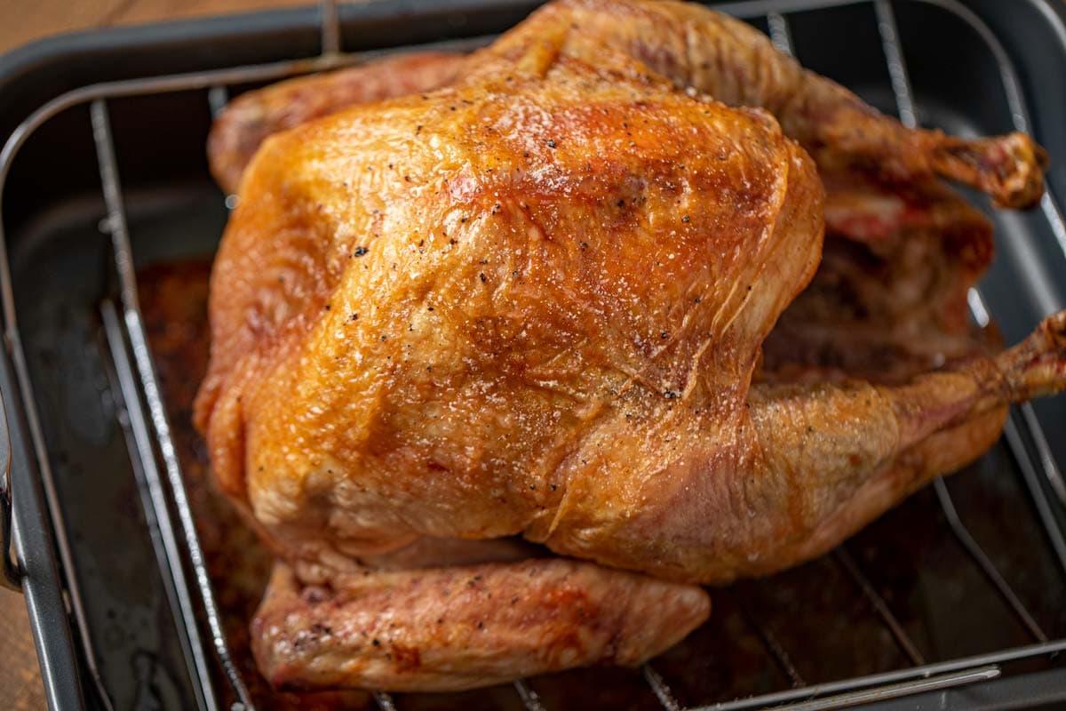 Roast Turkey from Frozen in roasting pan