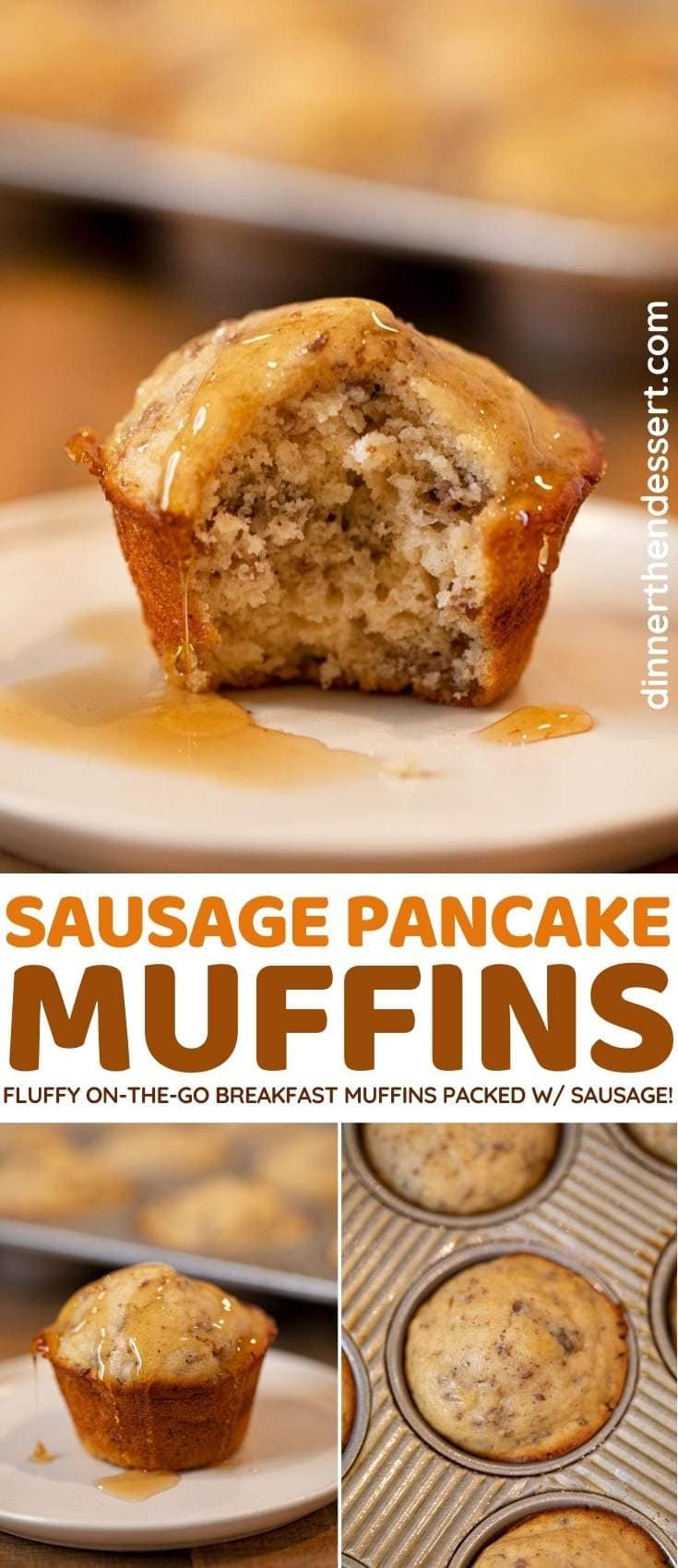 Sausage Pancake Muffins collage