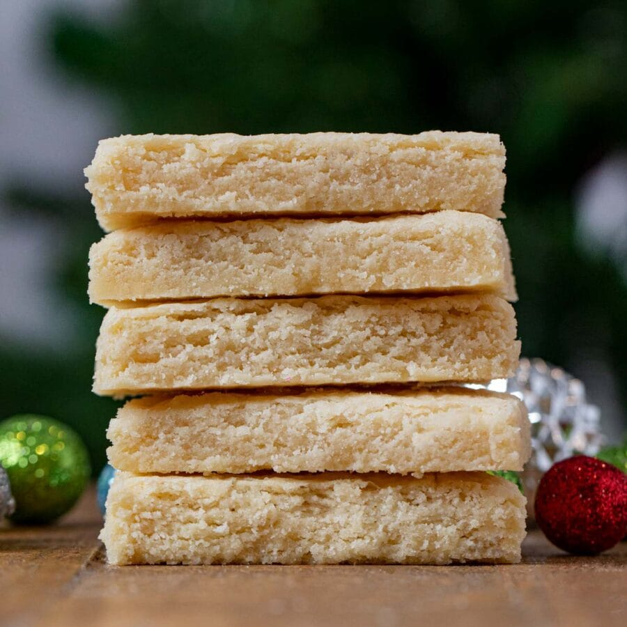 Shortbread Cookies in stack