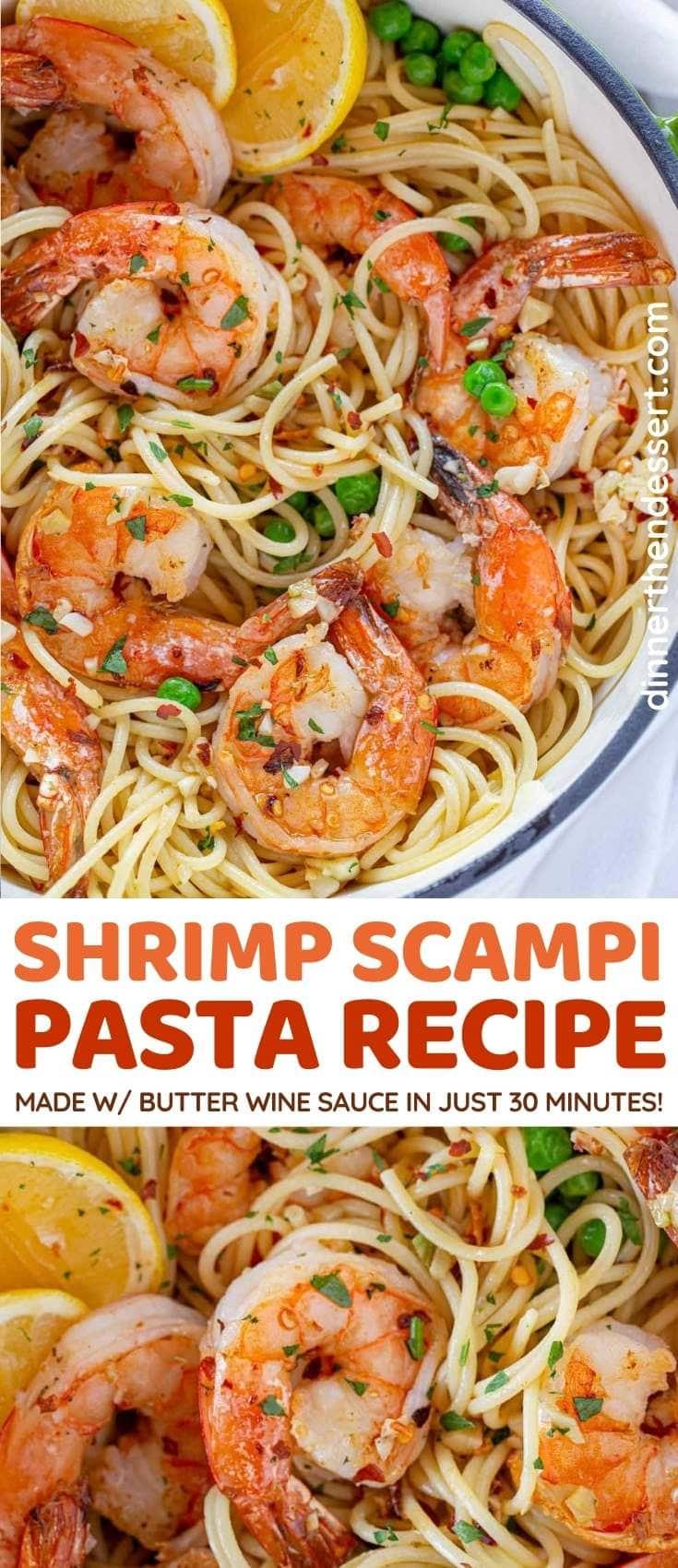 Shrimp Scampi Pasta collage