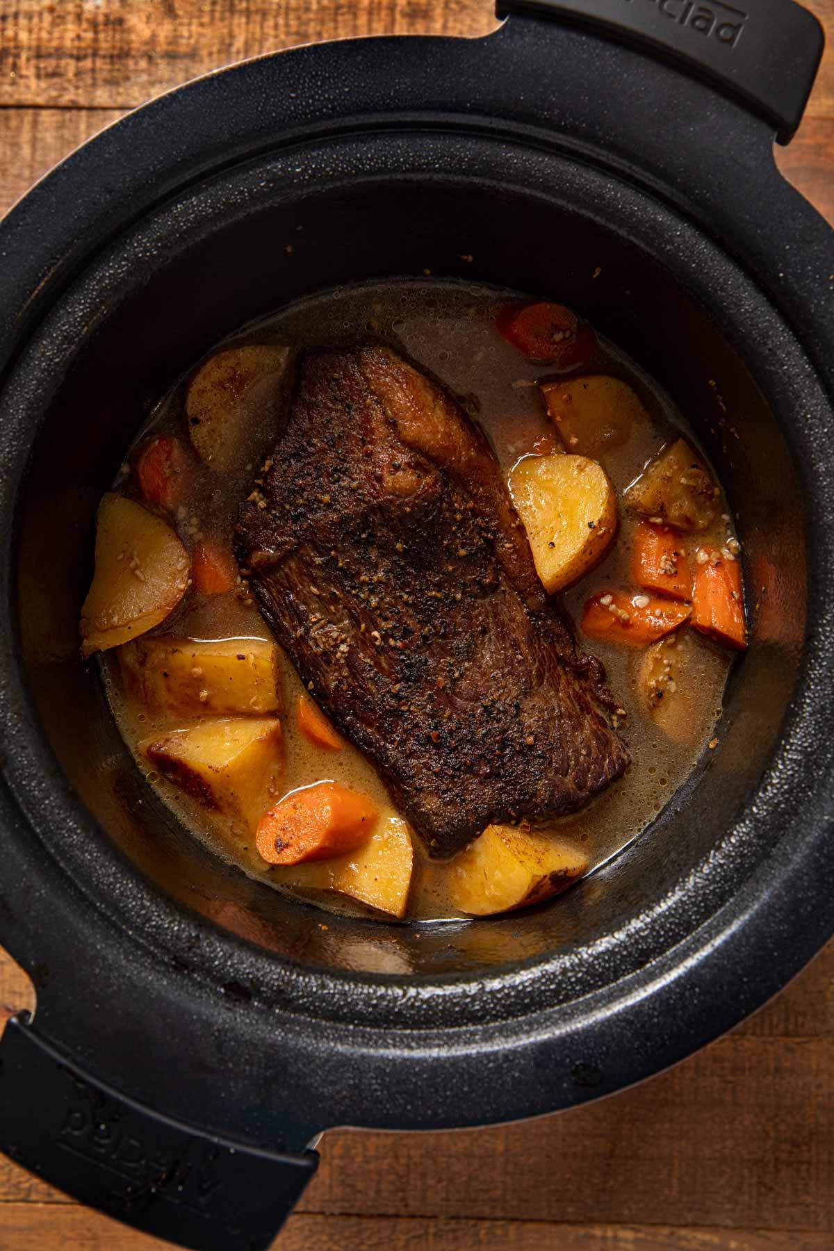 Slow Cooker Rump Roast in crock pot