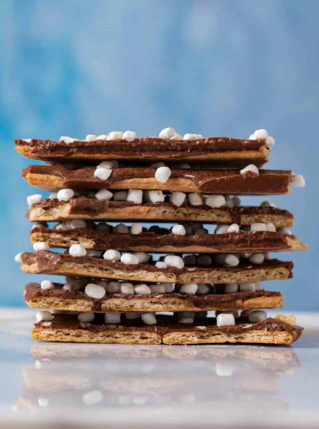 S'mores Bark pieces in stack