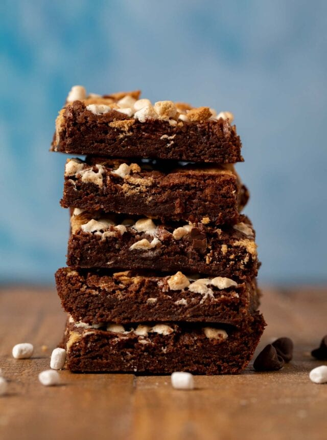 S'mores Brownies in stack