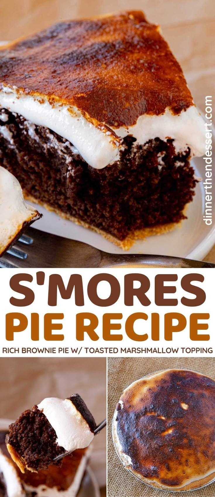 S'mores Pie collage