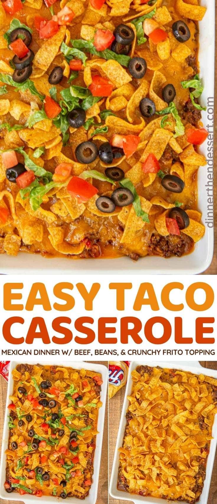 Taco Casserole collage