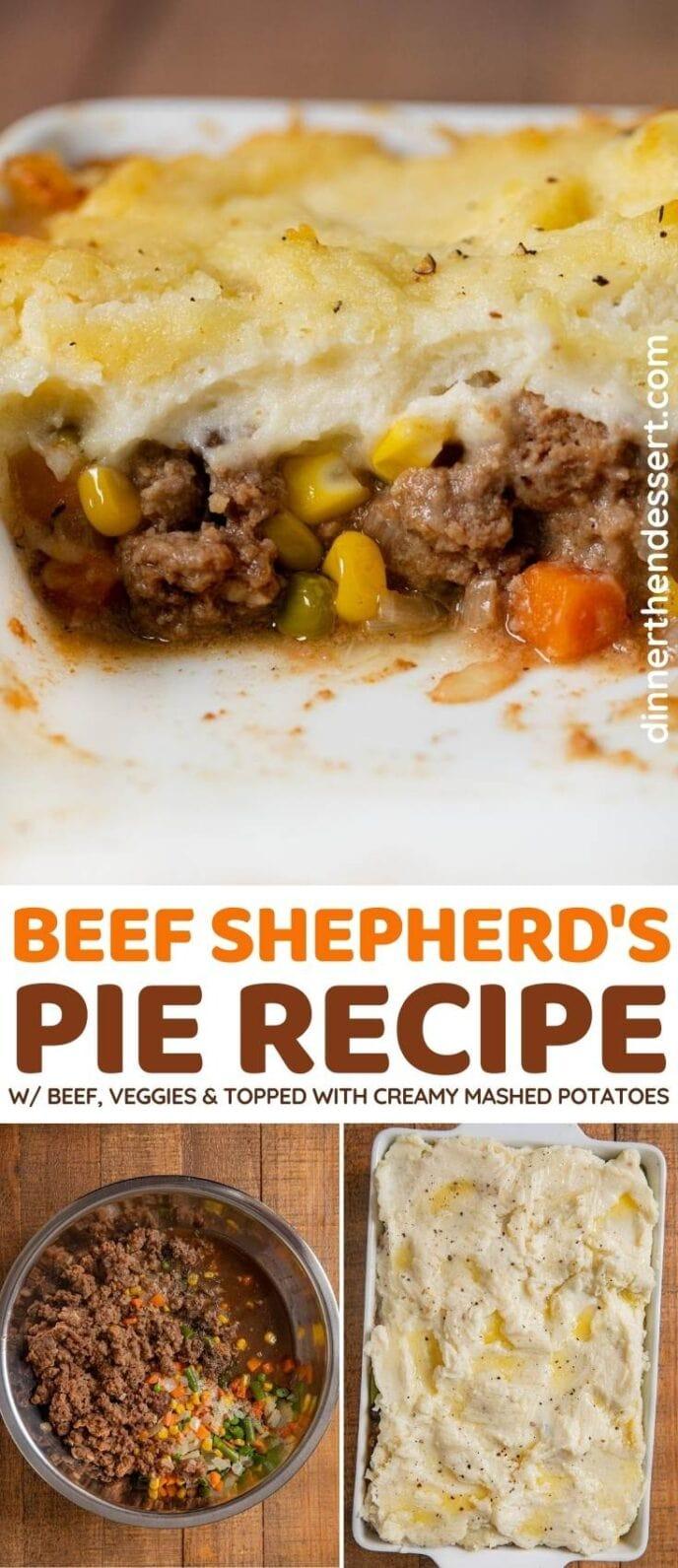 Beef Shepherd's Pie collage