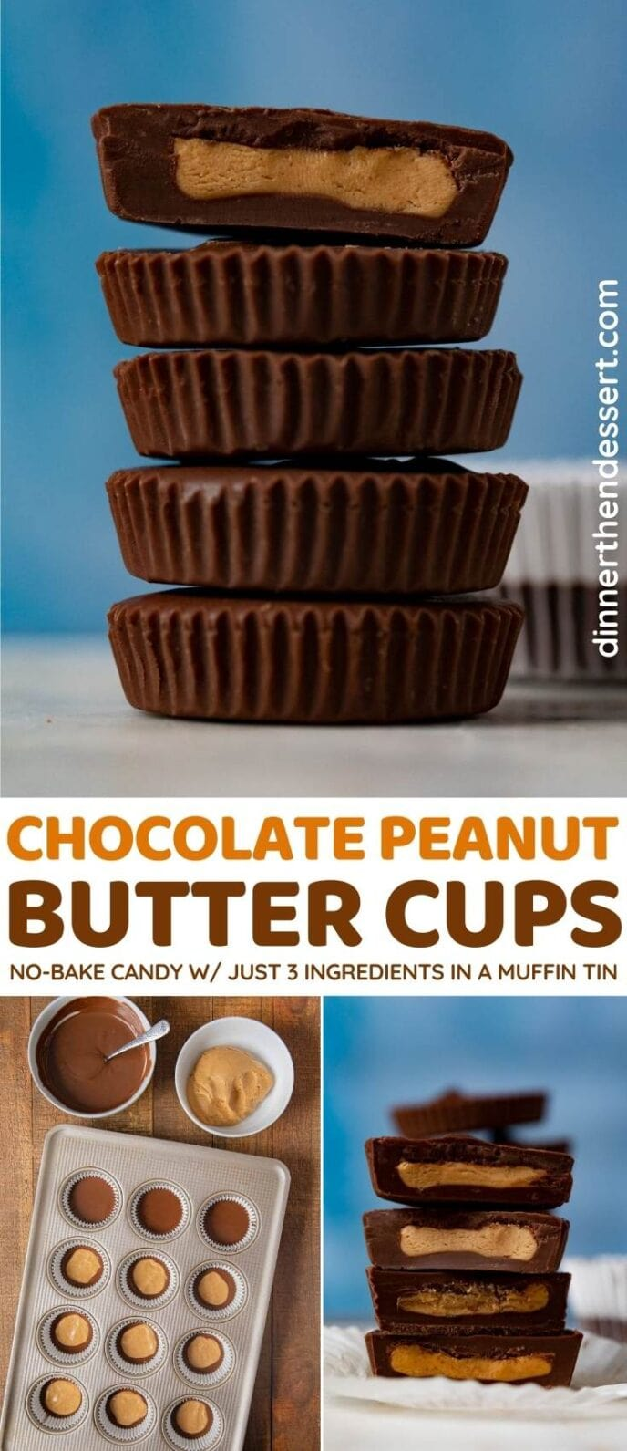 Chocolate Peanut Butter Cups collage